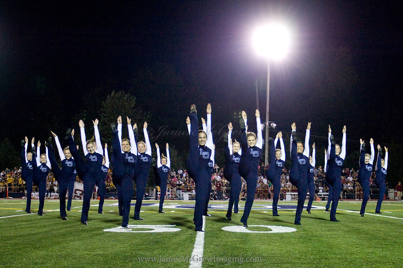 High Kick during a half time routine.