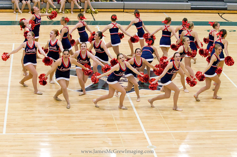 Pom routine at the Reynolds competition (first competition of the year!)