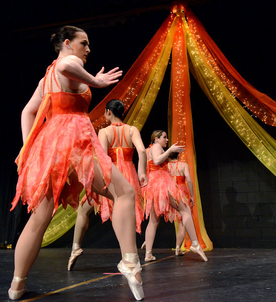 "Lansdale Catholic Dance Company members perform a dress rehearsal of their 22nd Annual Dance Showcase ""Heating Up The Stage"" at Lansdale Catholic High School on Tuesday February 25,2014. Photo by Mark C Psoras/The Reporter"