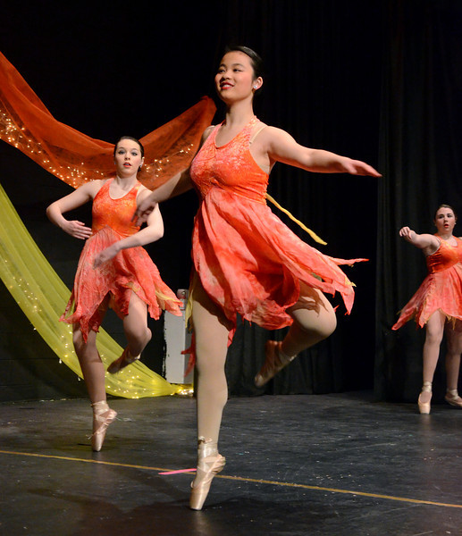 """Lansdale Catholic Dance Company members perform a dress rehearsal of their 22nd Annual Dance Showcase """"Heating Up The Stage"""" at Lansdale Catholic High School on Tuesday February 25,2014. Photo by Mark C Psoras/The Reporter"""