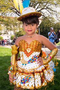 Alondra (age 6) of  Springfield, Va. - Morenada Tricobol