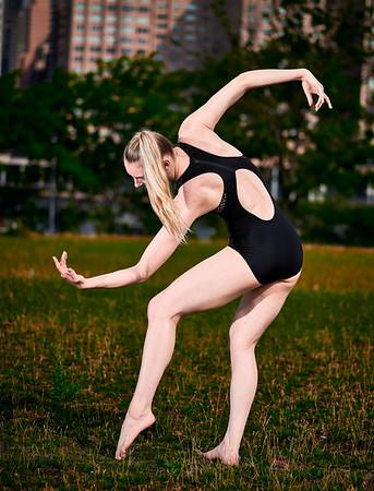 June 29, 2019 - New York, NY   Dancer/ Fitness Model Lindsey L. Miller at Roosevelt Island  Danznmotion apparel  Photographer- Robert Altman Post-production- Robert Altman