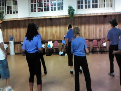Line Dancers Practice Session