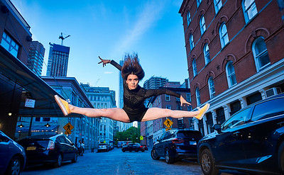 May 16, 2019 - New York, NY  Dancer Manon Bal captured around the base of the Brooklyn Bridge and the South Street Seaport  Photographer- Robert Altman Post-production- Robert Altman