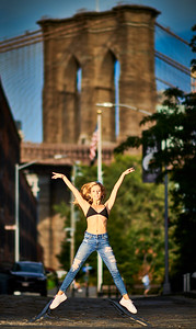 Sept.1,  2019 - New York, NY   Dancer Mathilde Guerrero in DUMBO Brooklyn NYC  Wearing  Danz n Motion  Photographer- Robert Altman Post-production- Robert Altman
