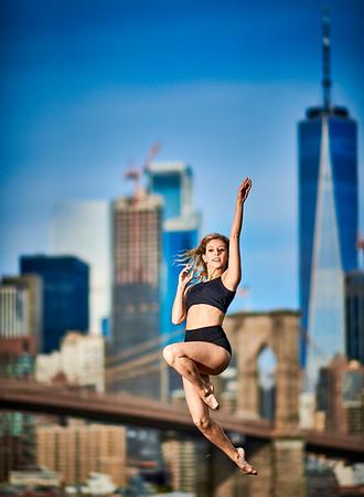 Sept.1,  2019 - New York, NY   Dancer Mathilde Guerrero in DUMBO Brooklyn NYC  Wearing  Danz n Motion  Photographer- Robert Altman Post-production- Robert Altman