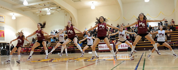 Menlo Atherton High Dance Team at Menlo Atherton Varsity Men vs. Burlingame, 2011-02-04