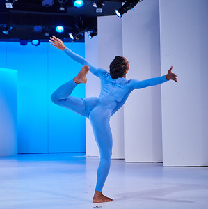 Nov. 24,  2019 - New York, NY   The Guggenheim Museum's Works and Process series presents Merce Cunningham Centennial Celebration  Rehearsal images  Dylan Crossman, a former member of Merce Cunningham Dance Company, curates a program celebrating the 100th birthday of modern dance legend Merce Cunningham. The program opens with Cunningham Centennial Solos: Works & Process at the Guggenheim, a unique arrangement of solos drawn from the recent Merce Cunningham Trust production Night of 100 Solos: A Centennial Event. The arrangement, made especially for the Frank Lloyd Wright–designed theater at the Guggenheim, by Dylan Crossman with Andrea Weber and performed by members of the Los Angeles and New York casts of Night of 100 Solos, is set to music by John King and features costumes by Reid Bartelme and Harriet Jung. Next, Crossman and fellow former company member Jamie Scott perform duets spanning several decades of Cunningham's work, with live music by Jesse Stiles and Pauline H. Kim. Weber moderates a discussion with former Cunningham dancers Kimberly Bartosik and Gus Solomons.  Dancers-  Christian Allen Jason Collins Dylan Crossman Erin Dowd  Jacquelin Harris Eleanor Hullihan  Burr Johnson Claude (CJ) Johnson Una Ludviksen Daniel Mccusker Sara Mearns  Jamie Scott Savannah Spratt  Pam Tanowitz   Photographer- Robert Altman Post-production- Robert Altman