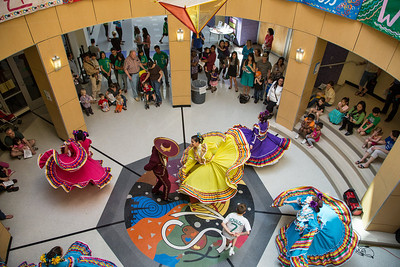 Los Quetzales Mexican Dance Ensemble performs in the Rotunda. Photo by David Moss, 2013