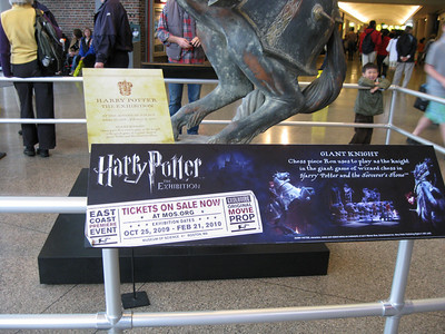 It was advertising the upcoming Harry Potter exhibit.