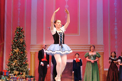 Drosselmeier unveils a life-size dancing doll. (Anne Barry photo)