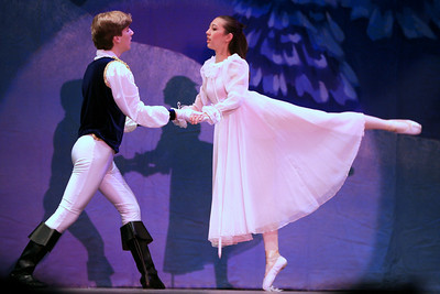 She dances with the Prince.