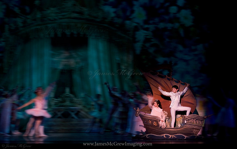 """Sail Away""  Closing scene from George Balanchine's Nutcracker.   This image was used for the advertising posters, mailers, and playbill cover for the 2009 performance."