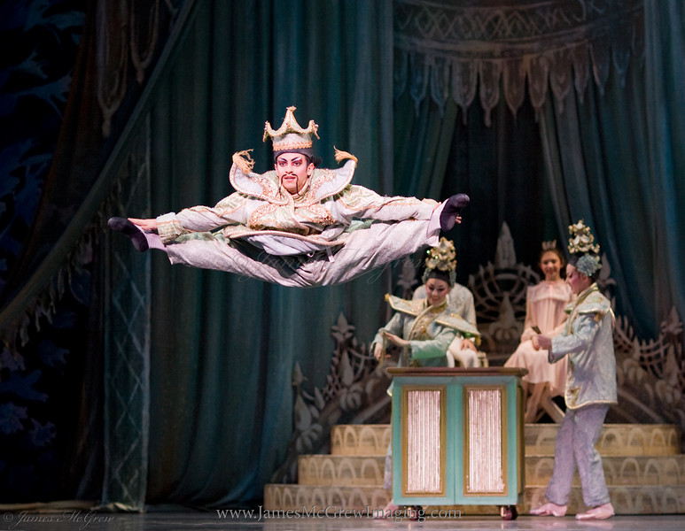 Javier Ubell in the Chinese Dance from Balanchine's Nutcracker.