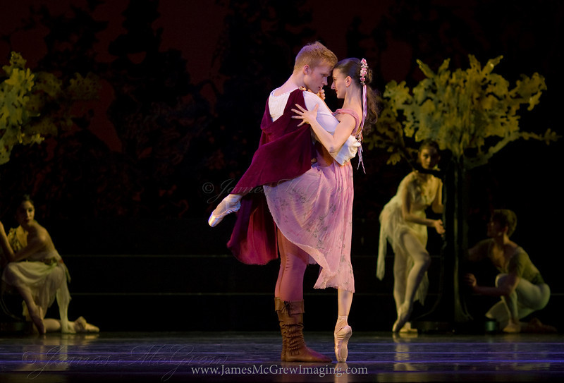 OBT Soloist Adrian Fry and principal dancer, Anne Mueller in A Midsummer Night's Dream.