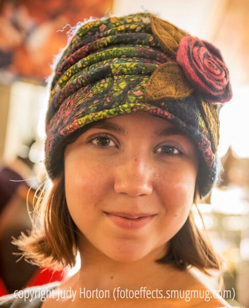 Quinn Models a Felt Hat
