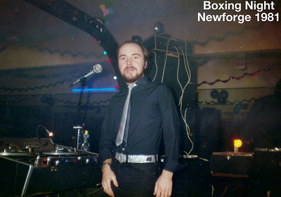 David Barr in DJ mode with his Roadrunner Roadshow taken on Boxing Night 1981