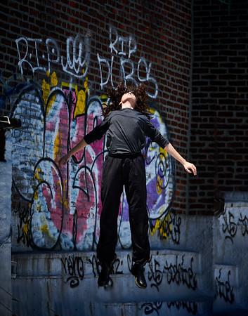 May 21, 2020- New York, NY    Dancer Sara Pizzi on her rooftop in Bushwick Brooklyn  Photographer- Robert Altman Post-production- Robert Altman