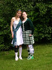 Heather and I posing against the greenery.  I think we look ab fab.