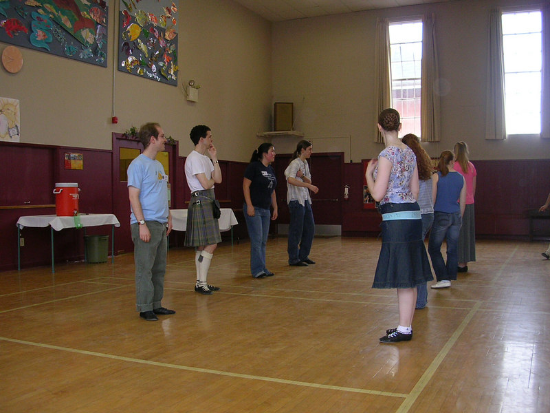 Advanced Class Saturday Morning.<br /> Men's line: Naom, Patrick, Lisa, Caleb.<br /> Ladies line: Deborah, Katie, unknown, Kit.