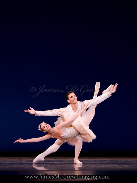 The Australian Ballet Dancers Stephanie Williams and Andrew Wright in an excerpt from Marius Petipa's The Sleeping Beauty at Oregon Ballet Theatre's Dance United 2010.