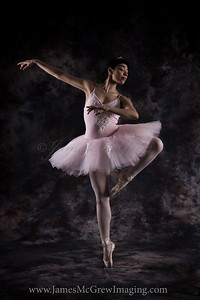Megan Abila as the Sugar Plum Fairy.  In the studio, ©2010, James McGrew