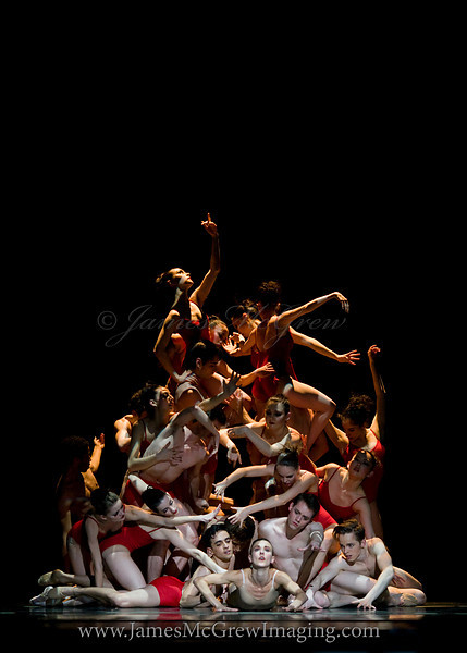 "Human pyramid in Christopher Stowell's ""The Rite of Spring."""