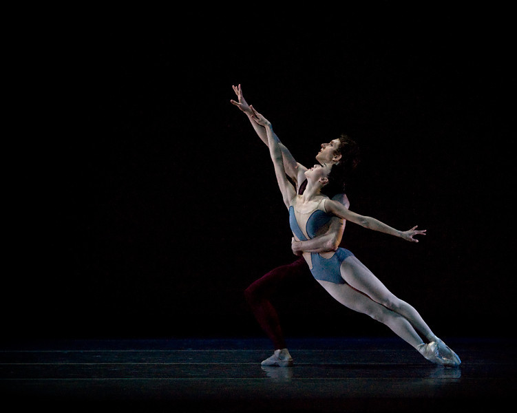 Haiyan Wu and Brian Simcoe in Christopher Wheeldon's Liturgy, one of four short works on Oregon Ballet Theatre's 2012 spring program, Chromatic Quartet.