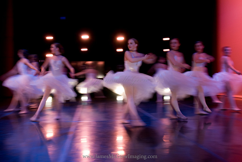 Lake Oswego Academy of Dance from backstage during performance.