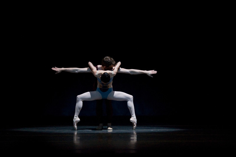 Haiyan Wu and Brian Simcoe in Christopher Wheeldon's Liturgy, one of four short works on Oregon Ballet Theatre's spring 2012 program, Chromatic Quartet.