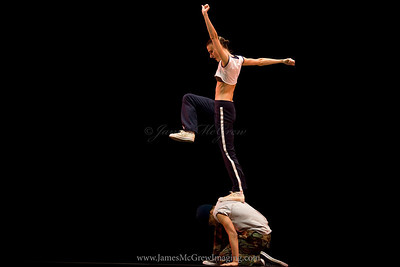 "OBT Principal dancer Anne Mueller and company artist Lucas Threefoot in OBT's production of Trey McIntyre's ""Speak."""