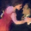Tango Mind.<br /> Claudia Codega and Esteban Moreno performing at the Copenhagen Tango Festival.<br /> Photo painted with digital impressionist chalk brush in Corel Painter.