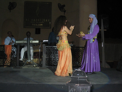 The bellydancer and Hakam who's playing sagat (zills).