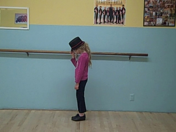 "Toni practicing ""Billie Jean"" choreographed by Annie Stoner at San Juan School of Dance, Los Altos, CA. January 9, 2010."