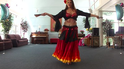 Ashleigh in Roma Fan Gypsy Skirt Dance