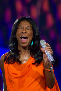 Grammy winner Natalie Cole performs a duet with her late father Nat King Cole. The annual National Memorial Day Concert on Sunday May 27, 2012.