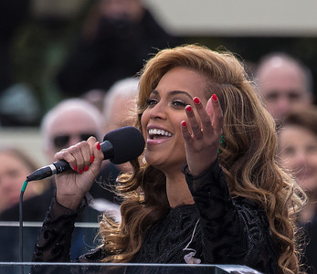 Beyonce performs during the Presidential Inauguration at the U.S. Capitol (Jan 21, 2013).
