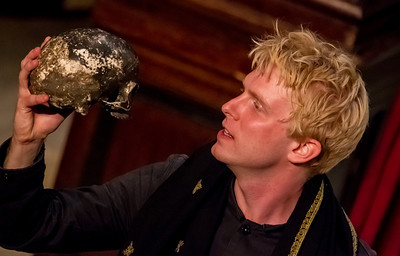 "Alas, poor Yorick! - Georgetown grad Michael Benz as Hamlet. ""Hamlet"" came to the Folger for a two-week run courtesy of London-based Shakespeare's Globe. This production has already toured Britain extensively and began its North American trip here in Washington, D.C."