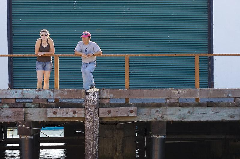 Kayak owners looking on