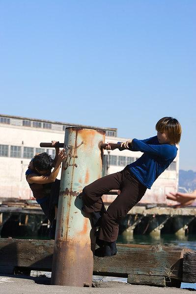 Frances and Keiko get up onto the Pylon