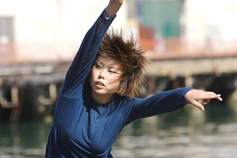 Keiko during the Sea Wall performance