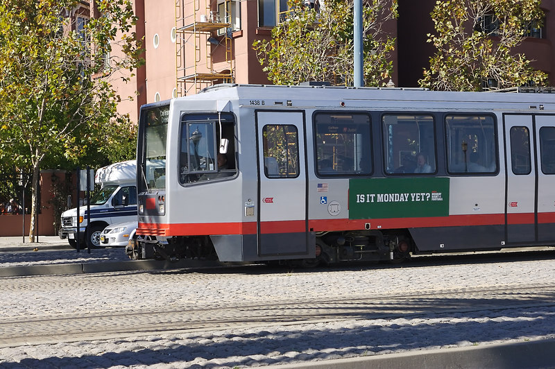 The next MUNI train arrives