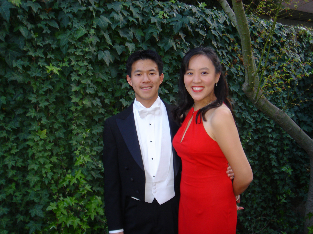 Lilly and I about to head off to the ball.  Isn't she gorgeous in that red dress?