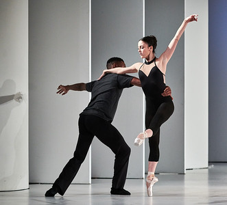 March 11, 2019 - New York, NY - The Guggenheim Museum's Works and Process series presents The Washington Ballet: Julie Kent with Dana Genshaft and Ethan Stiefel   The Washington Ballet artistic director Julie Kent, a champion of new choreography, discusses newly commissioned work with choreographers Dana Genshaft and Ethan Stiefel, and moderator Donya Archer Bommer. Company dancers perform exclusive highlights prior to their April 3rd premieres in Washington, D.C.  Dancers- Victoria Arrea Katherine Barkman Corey Landolt Tamako Miyazaki Andile Ndlovu Daniel Roberge Rolando Sarabia Sarah Steele Brittany Stone  Excerpts from Shadow Lands (Genshaft) and Wood Work (Stiefel)  Photographer- Robert Altman Post-production- Robert Altman