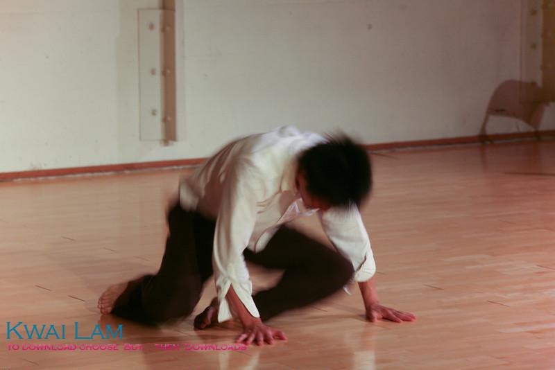 Teacher Brenton Cheng peforms at West Coast Contact Improv Festival Teachers' Gala 2008