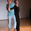 Teachers  Elio Scudieri and Carolyn Stuart perform in the Teachers' Gala at the West Coast Contact Improv Festival 2008