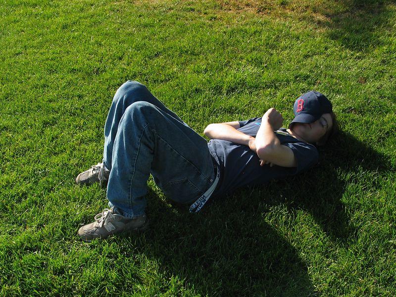 A.J. taking a nap