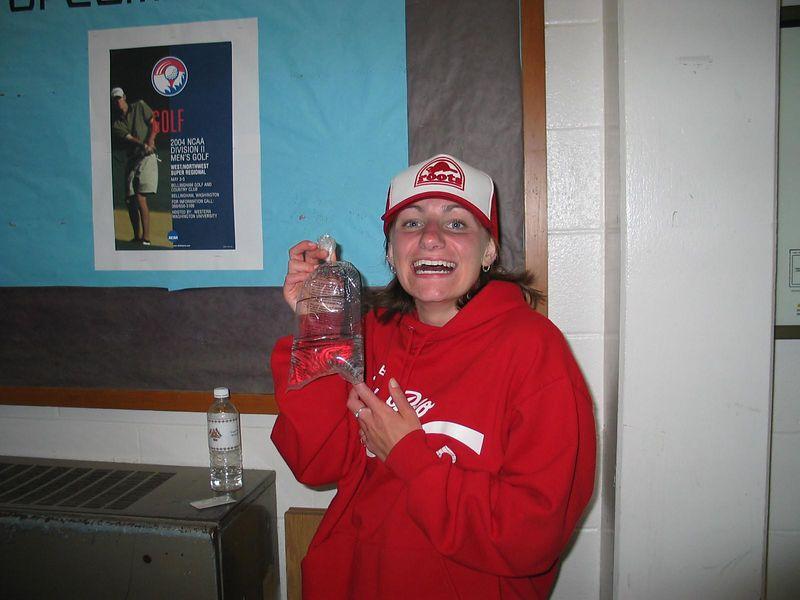 Naomi won a goldfish at Kappa Karnival