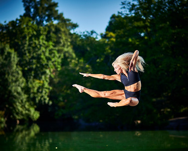 Aug 11, 2019 - New York, NY  Dancer Zoey Anderson captured in Central Park  NYC Wearing Danz N Motion by Danshuz  and Sanjell wrap skirt  Photographer- Robert Altman Post-production- Robert Altman