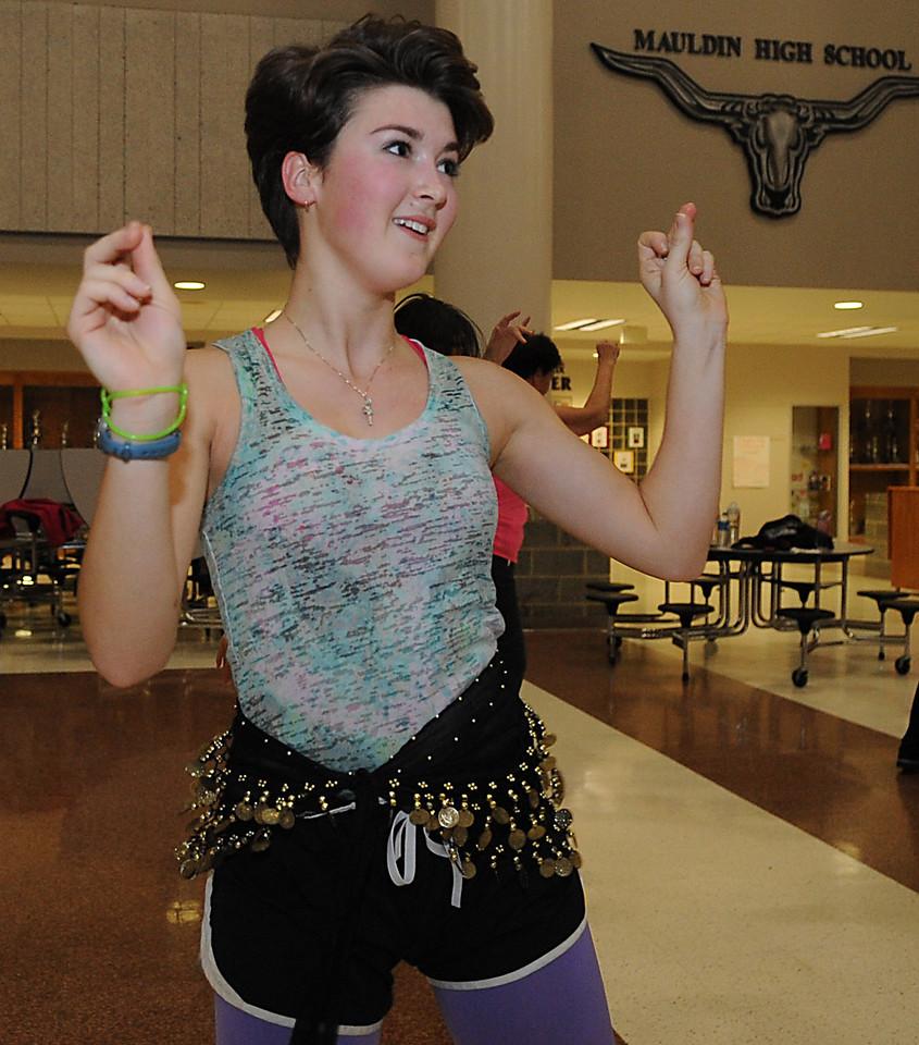 Mauldin High School and Manuela Chaverra held a Zumbathon Dance Party led by Zumba instructor Jennifer Edwins, at the school which, was part of Spirit Week.<br /> GWINN DAVIS PHOTOS<br /> gwinndavisphotos.com (website)<br /> (864) 915-0411 (cell)<br /> gwinndavis@gmail.com  (e-mail) <br /> Gwinn Davis (FaceBook)